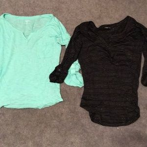 Set of two 3/4 sleeve tops